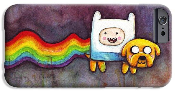 Cat iPhone 6s Case - Nyan Time by Olga Shvartsur