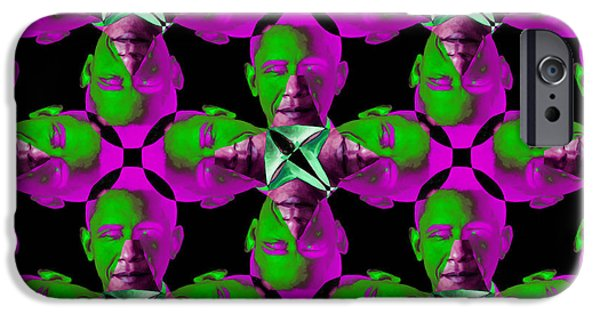 Obama Abstract 20130202m60 IPhone Case by Wingsdomain Art and Photography