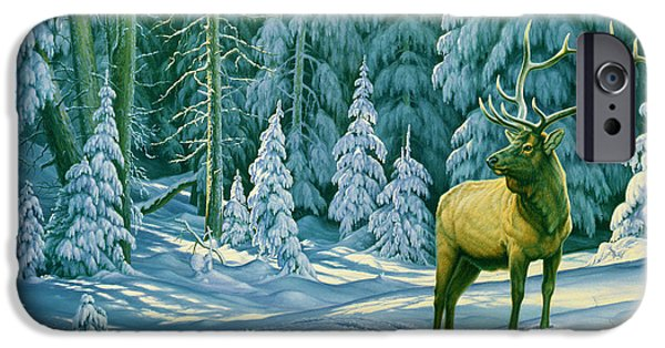 Bull iPhone 6s Case - October Snow by Paul Krapf