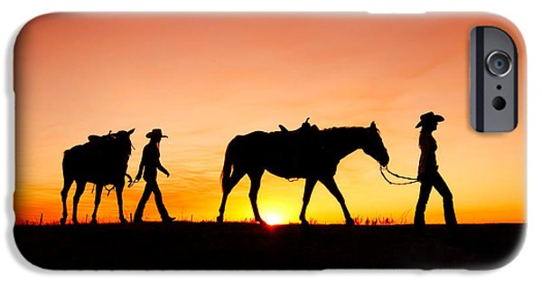 Horse iPhone 6s Case - Off To The Barn by Todd Klassy
