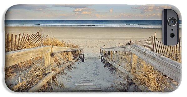 New England Coast iPhone 6s Case - Ogunquit Beach Boardwalk by Katherine Gendreau