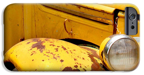 Transportation iPhone 6s Case - Old Yellow Truck by Art Block Collections