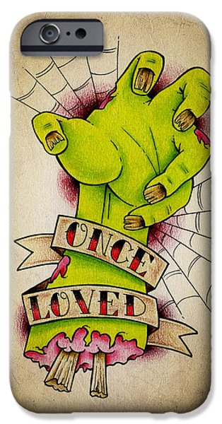 Color Pencil iPhone 6s Case - Once Loved by Samuel Whitton