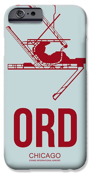 Chicago iPhone 6s Case - Ord Chicago Airport Poster 3 by Naxart Studio