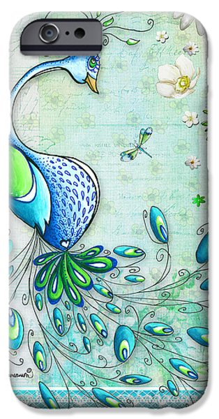 Peacock iPhone 6s Case - Original Peacock Painting Bird Art By Megan Duncanson by Megan Duncanson