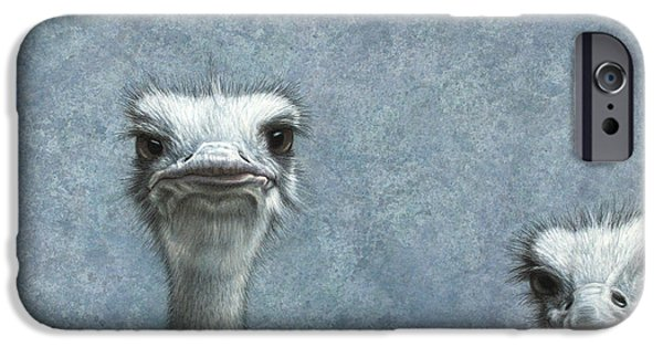 Ostrich iPhone 6s Case - Ostriches by James W Johnson
