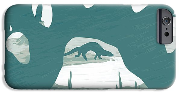 Otter iPhone 6s Case - Otter Paw by Daniel Hapi