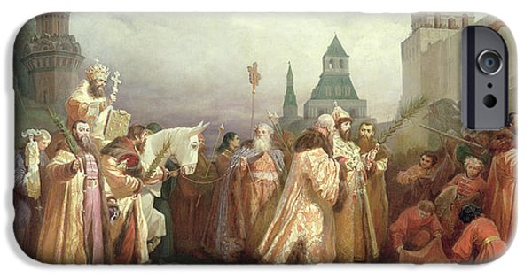 Palm Sunday Procession Under The Reign Of Tsar Alexis Romanov IPhone 6s Case by Viatcheslav Grigorievitch Schwarz