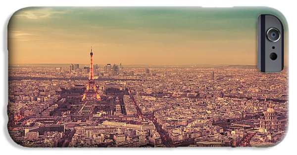 Paris - Eiffel Tower And Cityscape At Sunset IPhone 6s Case