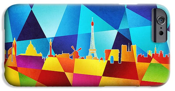 Contemporary iPhone 6s Case - Paris France Skyline by Michael Tompsett