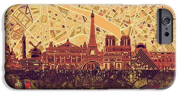 Paris Skyline Abstract Sepia IPhone 6s Case