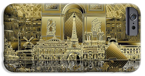 Paris Skyline Landmarks 4 IPhone 6s Case
