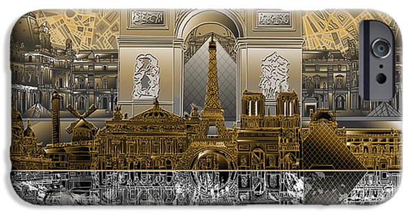 Paris Skyline Landmarks 5 IPhone 6s Case