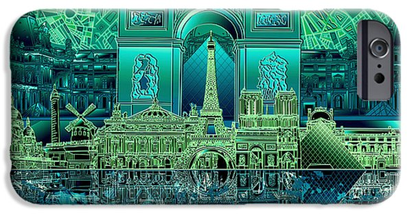 Paris Skyline Landmarks 6 IPhone 6s Case