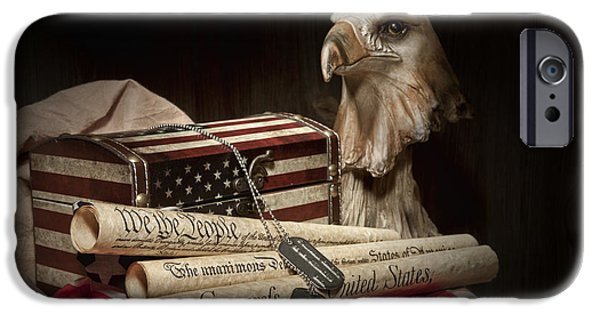 Eagle iPhone 6s Case - Patriotism by Tom Mc Nemar