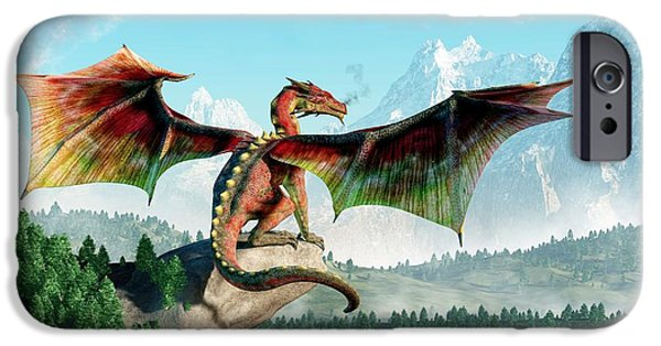Dungeon iPhone 6s Case - Perched Dragon by Daniel Eskridge