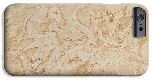 Pegasus iPhone 6s Case - Perseus Rescuing Andromeda Red Chalk On Paper by or Zuccaro, Federico Zuccari