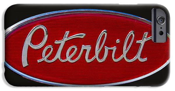 Truck iPhone 6s Case - Peterbilt Semi Truck Emblem by Nick Gray