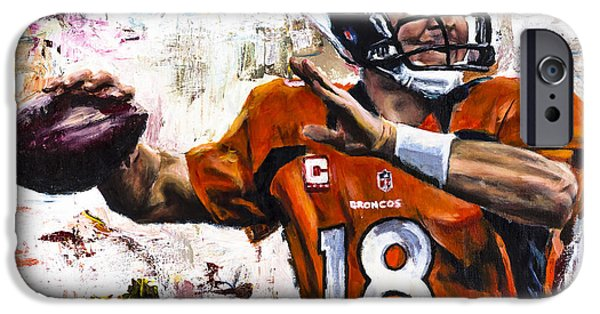 Peyton Manning IPhone 6s Case by Mark Courage