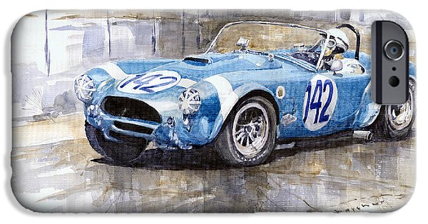 Cobra iPhone 6s Case - Phil Hill Ac Cobra-ford Targa Florio 1964 by Yuriy Shevchuk