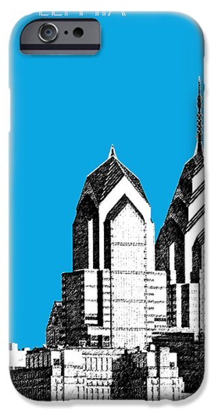 Philadelphia Skyline Liberty Place 1 - Ice Blue IPhone 6s Case by DB Artist