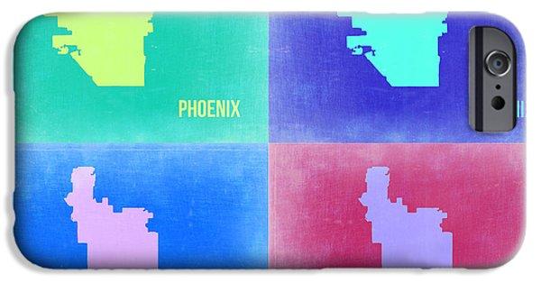 Phoenix iPhone 6s Case - Phoenix Pop Art Map 1 by Naxart Studio