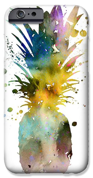 Pineapple iPhone 6s Case - Pineapple 2 by Watercolor Girl