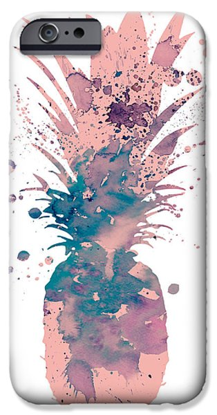 Pineapple iPhone 6s Case - Pineapple 3 by Watercolor Girl