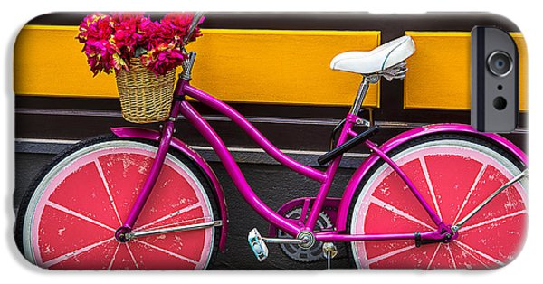 Bicycle iPhone 6s Case - Pink Bike by Garry Gay