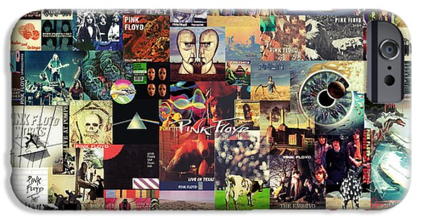 Rock And Roll iPhone 6s Case - Pink Floyd Collage II by Zapista