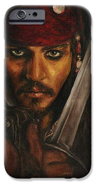 Pirates- Captain Jack Sparrow IPhone 6s Case by Lina Zolotushko