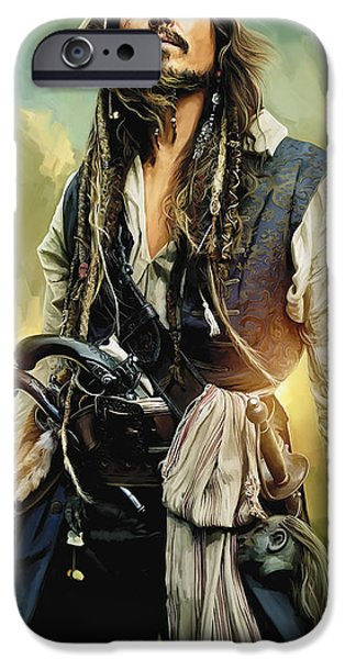 Pirates Of The Caribbean Johnny Depp Artwork 1 IPhone 6s Case by Sheraz A