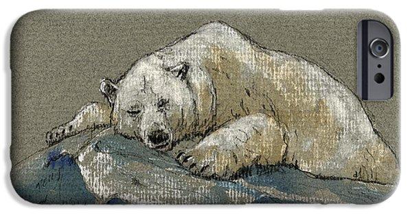 Polar Bear iPhone 6s Case - Polar Bear Sleeping by Juan  Bosco