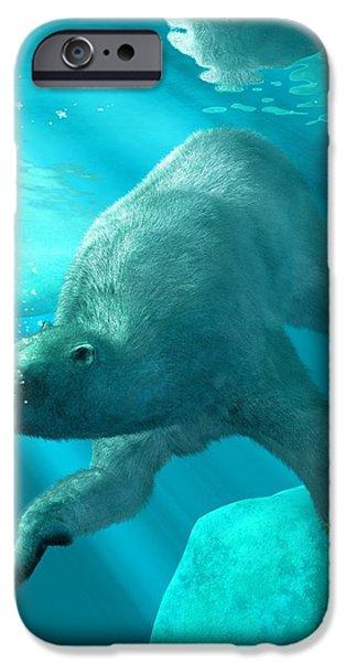 Scuba Diving iPhone 6s Case - Polar Bear Underwater by Daniel Eskridge