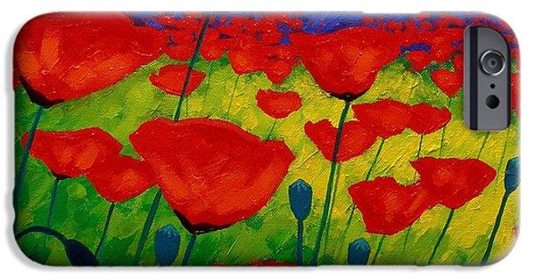 Contemporary iPhone 6s Case - Poppy Corner II by John  Nolan