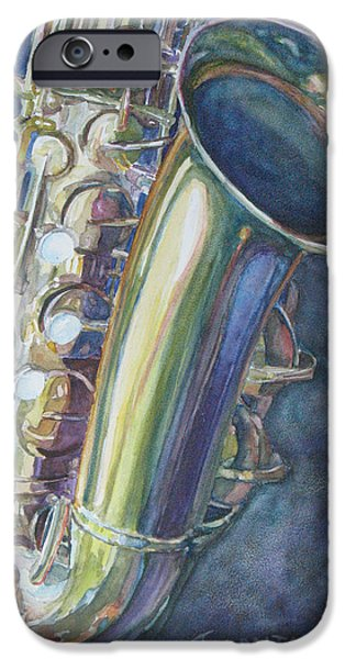 Portrait Of A Sax IPhone 6s Case by Jenny Armitage