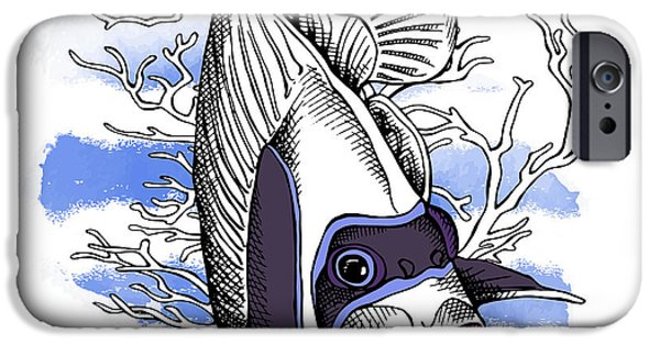 Aquarium iPhone 6s Case - Poster With Image Of Fish Emperor by Afishka