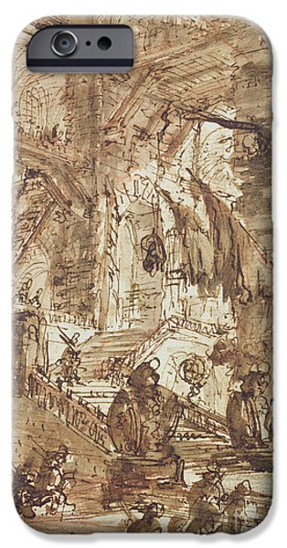 Dungeon iPhone 6s Case - Preparatory Drawing For Plate Number Viii Of The Carceri Al'invenzione Series by Giovanni Battista Piranesi
