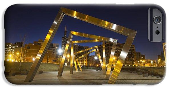 Public Art Rectangles At Dawn IPhone Case by Sven Brogren