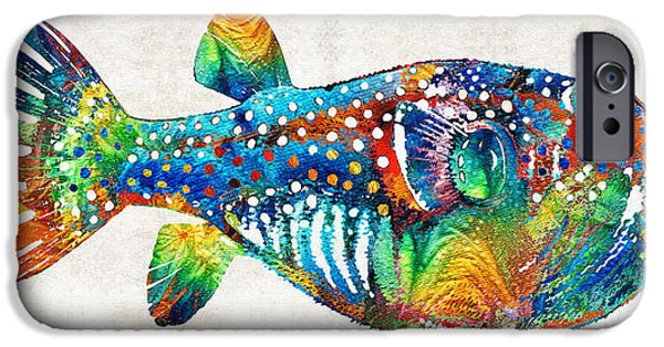 Scuba Diving iPhone 6s Case - Puffer Fish Art - Blow Puff - By Sharon Cummings by Sharon Cummings