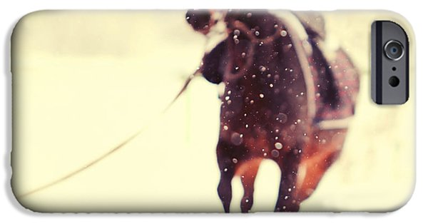 Horse iPhone 6s Case - Race In The Snow by Jenny Rainbow