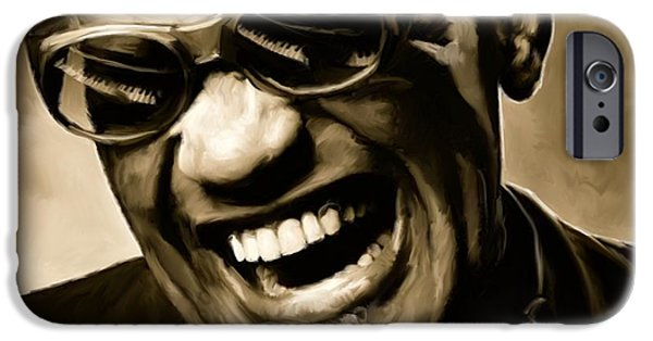 Ray Charles - Portrait IPhone 6s Case by Paul Tagliamonte
