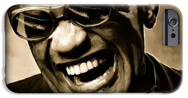 Music iPhone 6s Case - Ray Charles - Portrait by Paul Tagliamonte