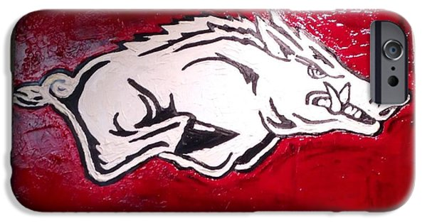 Razorback Painting Art IPhone 6s Case by Dawn Bearden