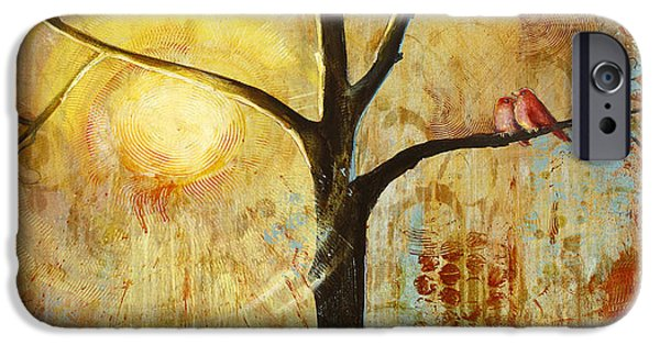 Red Birds Tree Version 2 IPhone 6s Case by Blenda Studio