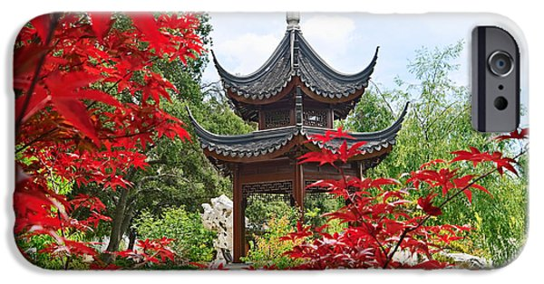 Garden iPhone 6s Case - Red - Chinese Garden With Pagoda And Lake. by Jamie Pham
