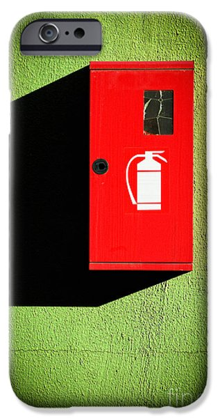 Red Fire Extinguisher Box IPhone 6s Case by Silvia Ganora