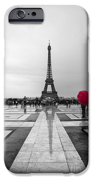 Paris iPhone 6s Case - Red Umbrella by Timothy Johnson