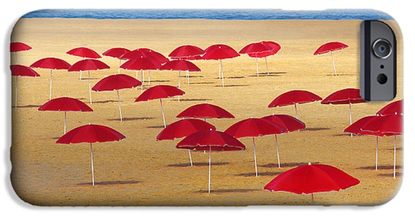 Ocean iPhone 6s Case - Red Umbrellas by Carlos Caetano