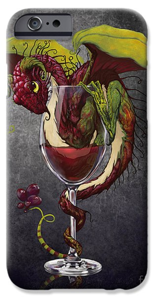 Dragon iPhone 6s Case - Red Wine Dragon by Stanley Morrison